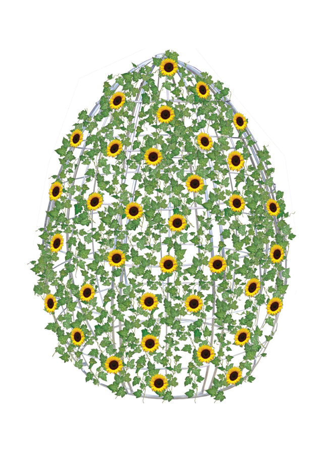 Hire Egg Frame with Sunflower