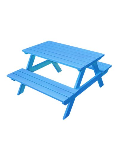 blue kids bench