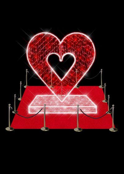 Illuminated Heart on Stand