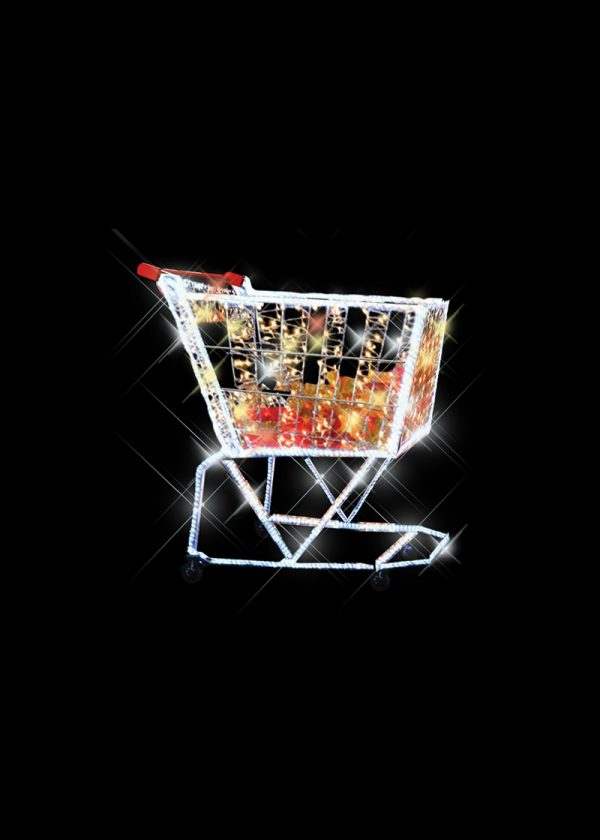 Illuminated Trolley with Gifts