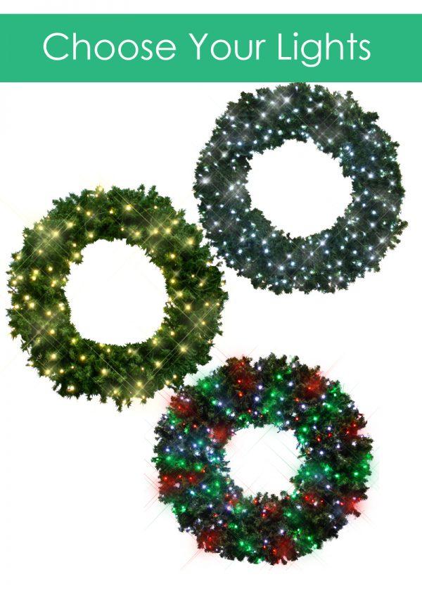 Choose Lights Wreaths