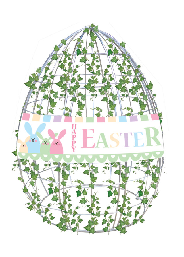 Hire Egg Frame with Ivy and Banner
