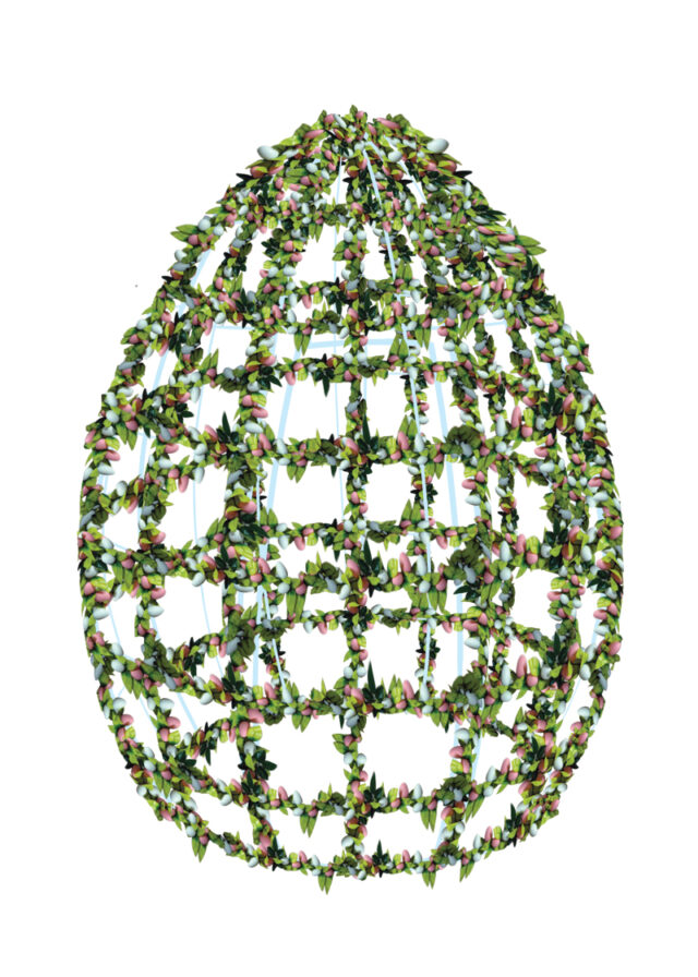 Hire Egg Frame with Eggs