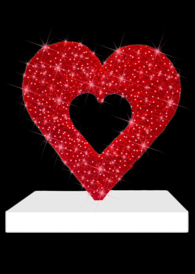 Heart on Stand Display