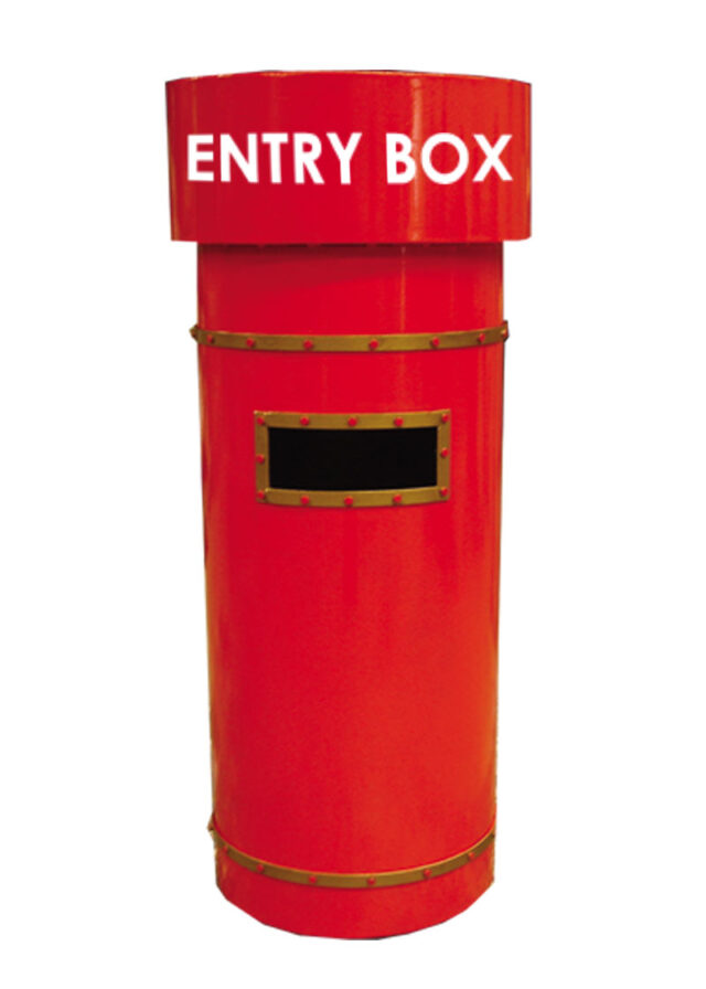 Hire Santa Post Box Red