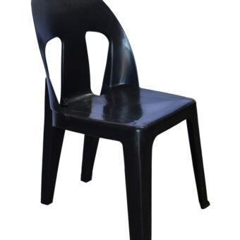 black plastic chair