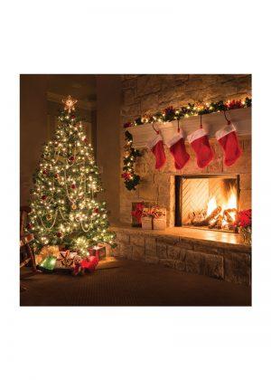 Christmas Fireplace Backdrop