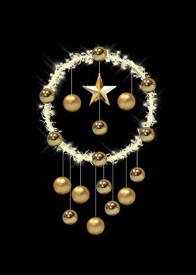 Cluster Light Wreath Gold