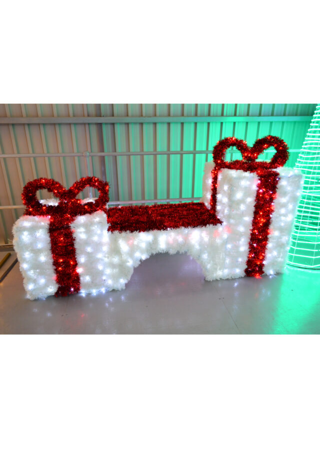 Illuminated Tinsel Bench