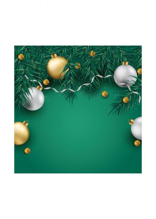 Green Christmas Backdrop