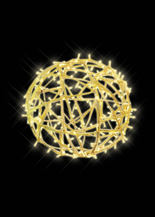 Illuminated LED Ball Yellow