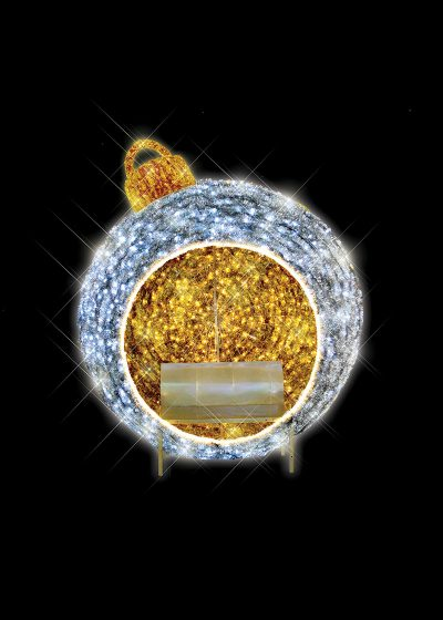 Illuminated Tinsel Bauble Chair