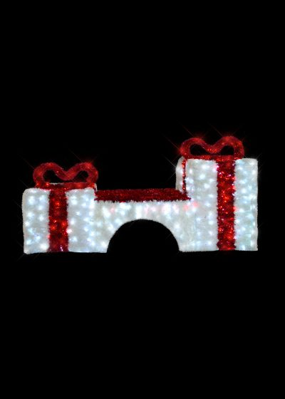 Red and White Tinsel Bench