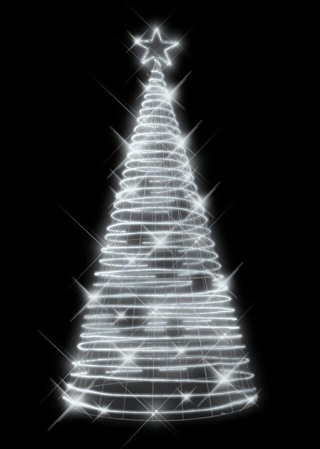 Rope Light Tree White