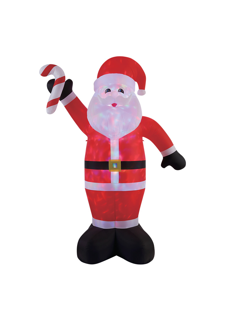 Santa with Candycane Inflatable