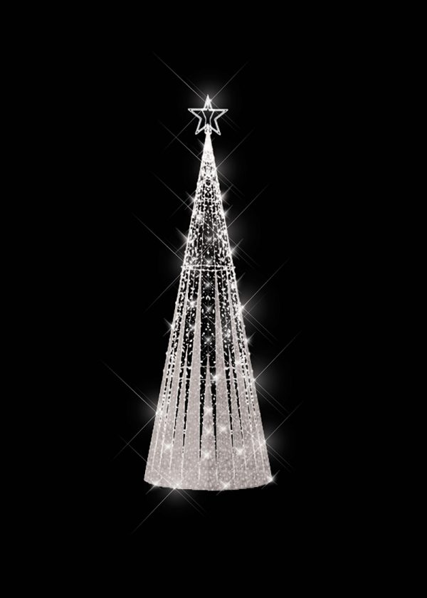 Tinsel Light Tree Silver
