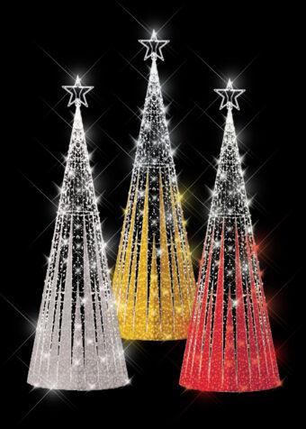 Tinsel Spike Light Trees