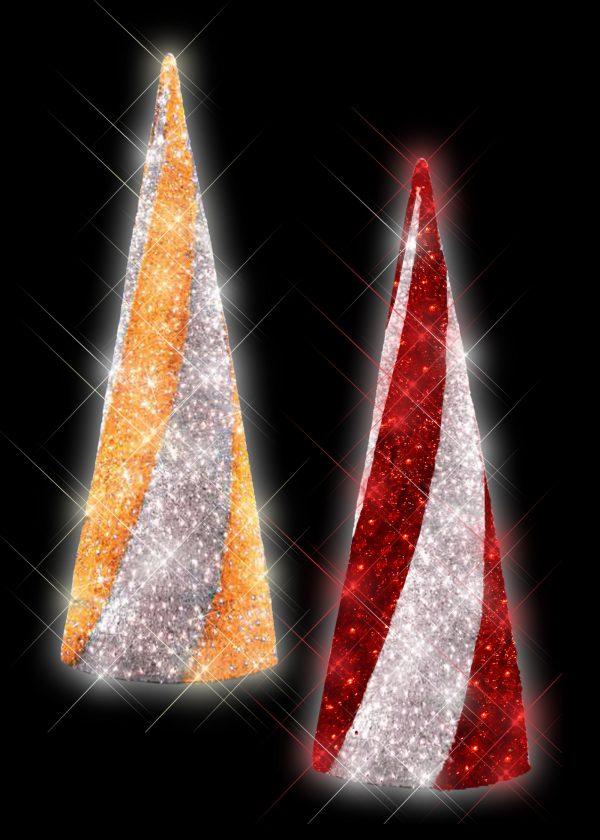 2-Toned Tinsel Light Trees