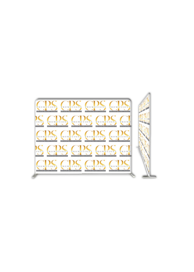 Branded flat banner wall
