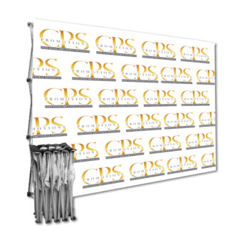 Branded Straight fabric banner wall