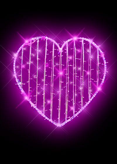 Heart LED Pink