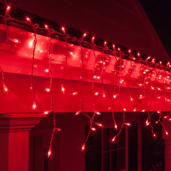 Red Icicle Lights