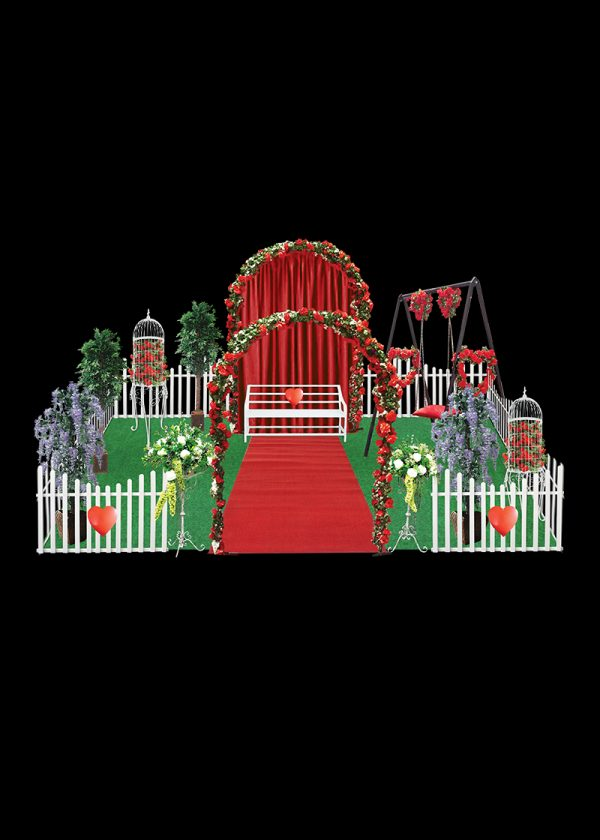 rose garden display