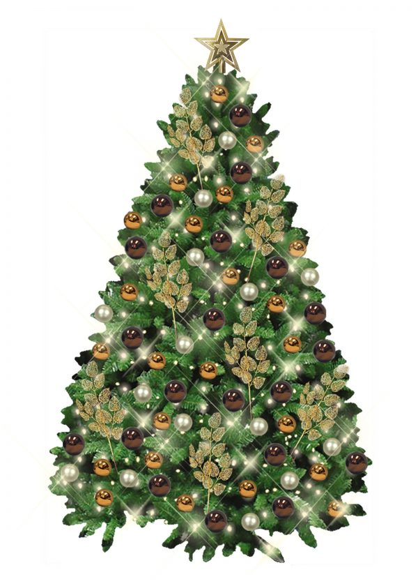 African Style Branch Christmas Tree