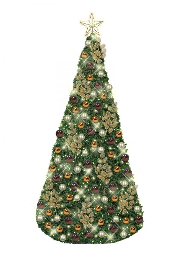 African Style Conical Christmas Tree