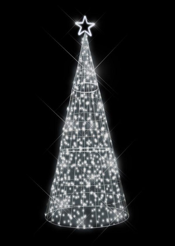 Cool White LED Tree