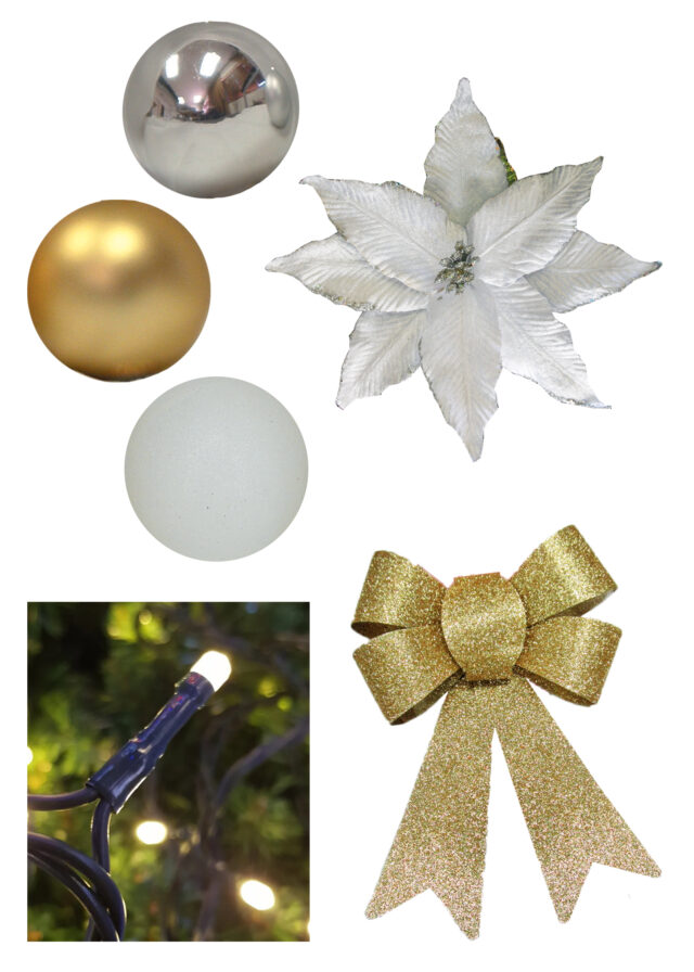 White Gold Silver Christmas Decor