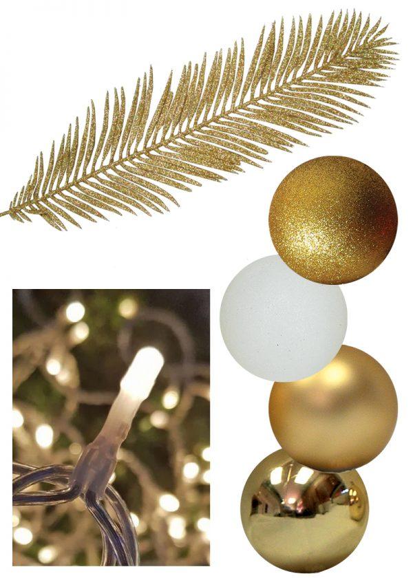 White Gold Christmas Decor