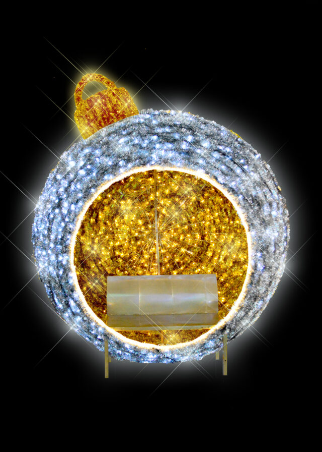 Silver Gold Bauble Bench