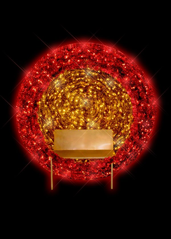 Red and Gold Bauble Chair Photo