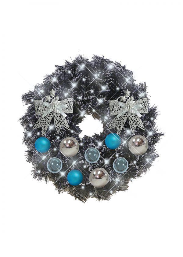 black christmas wreath