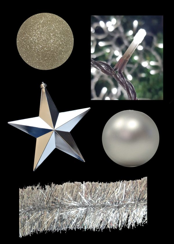 Silver and Champagne Christmas Decor