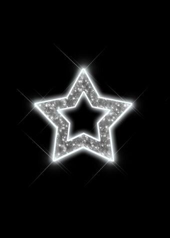 Silver Illuminated Tinsel Star