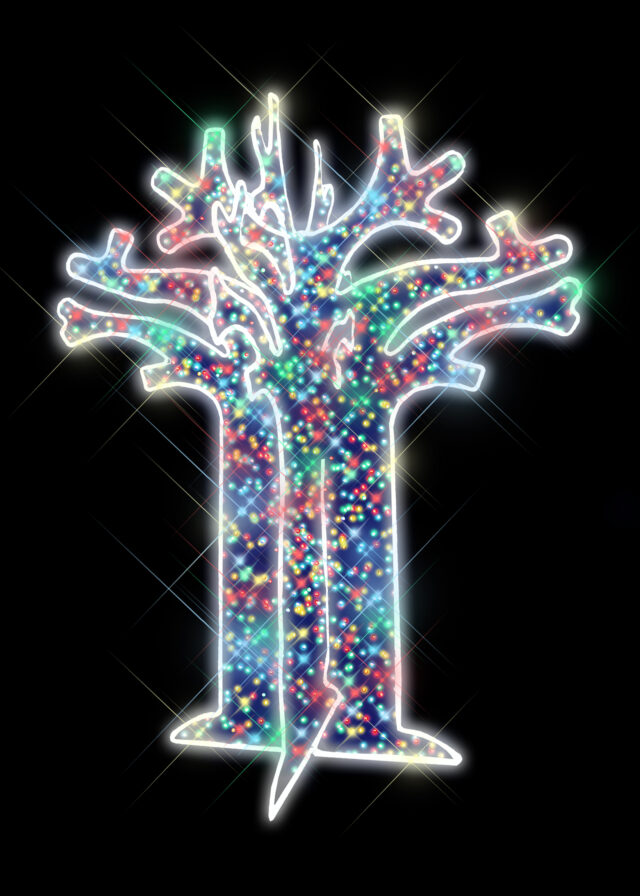 Multicolour Baobab Light Christmas Tree
