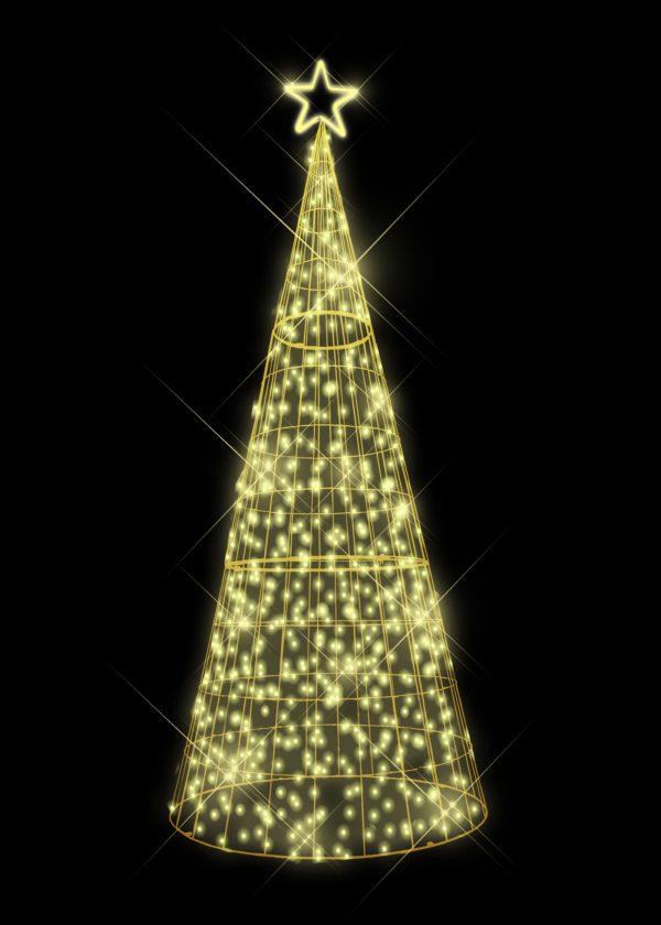 warm white led light tree