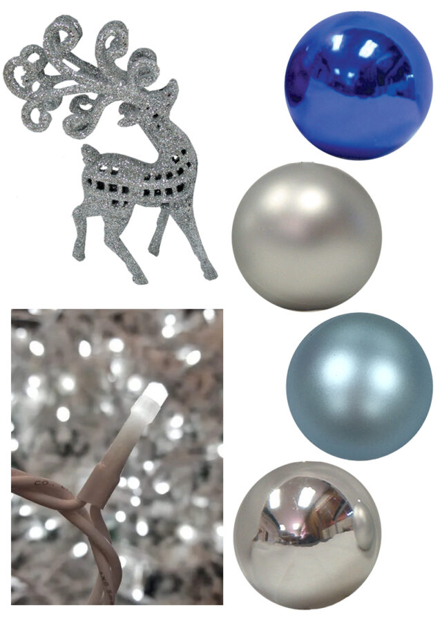 Blue and Silver Christmas Decor