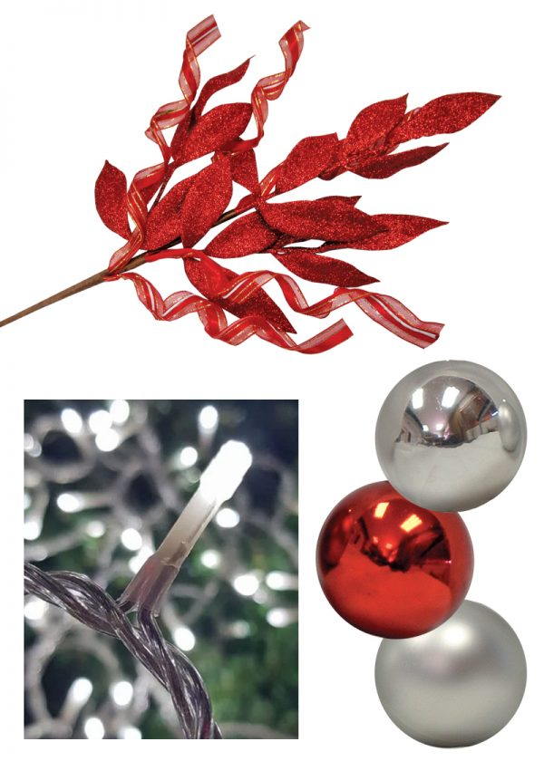 Silver Red Christmas Decor