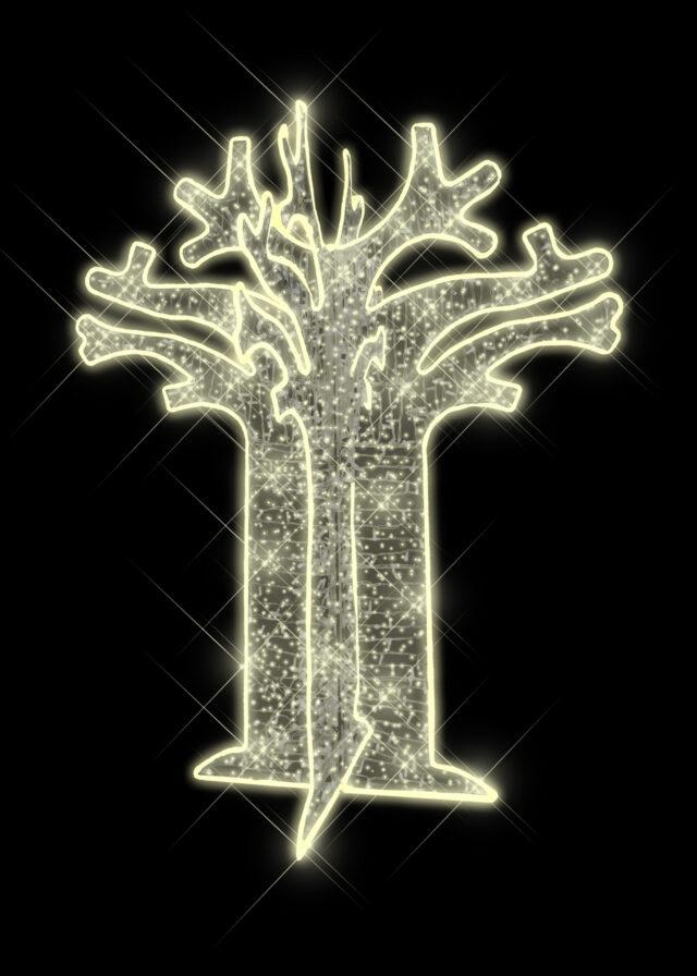 Warm White LED Baobab Tree